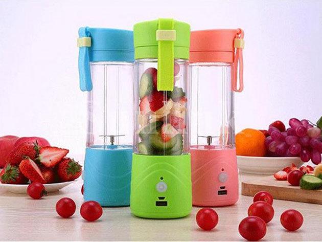 Akkus Shaker és Juice készítő az egészséges frissítőkhöz - használható hagyományos pohárként, mixerként, ami alkalmas zöldségek és gyümölcsök összekeverésére