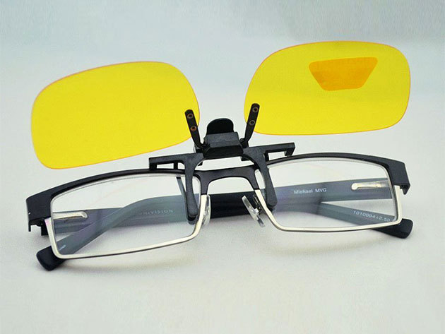 Szemüvegre csíptethető éjjellátó lencse vezetéshez (Night view), mely csökkenti a fényszóró és az utcai fények tükröződését, a szem terhelését