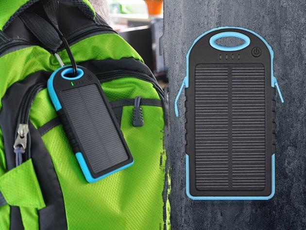Napelemes power bank, telefontöltő (20000mAh), ütésálló tokban - plusz energia bárhol, bármikor!