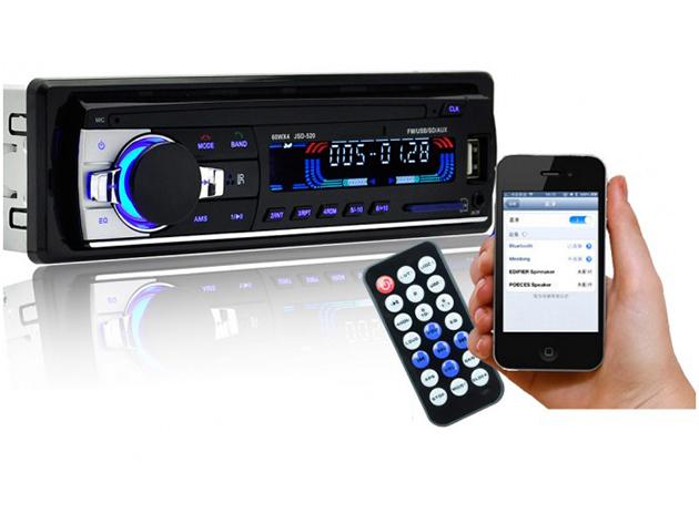 BLUETOOTH AUTÓRÁDIÓ FEJEGYSÉG - telefonkihangosító + zenelejátszó / USB-ről, SD kártyáról, és az előlapi 3,5mm-es jack csatlakozóján keresztül, a telefonodról is lejátssza a zenéket