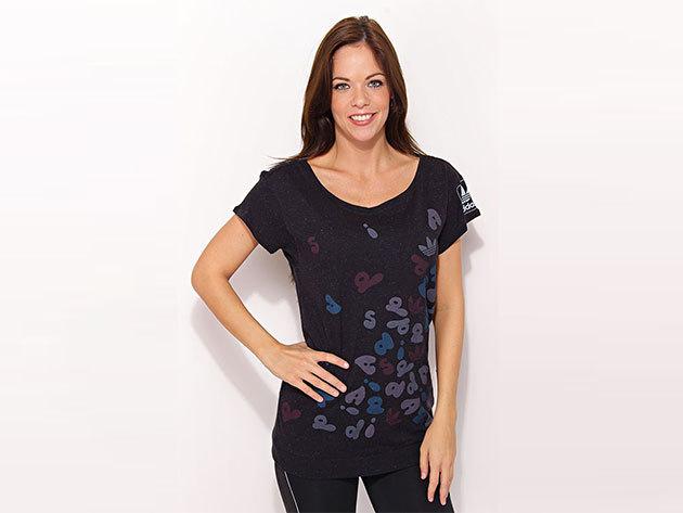 Adidas St Graphic Tee - női fekete póló - O58354-34
