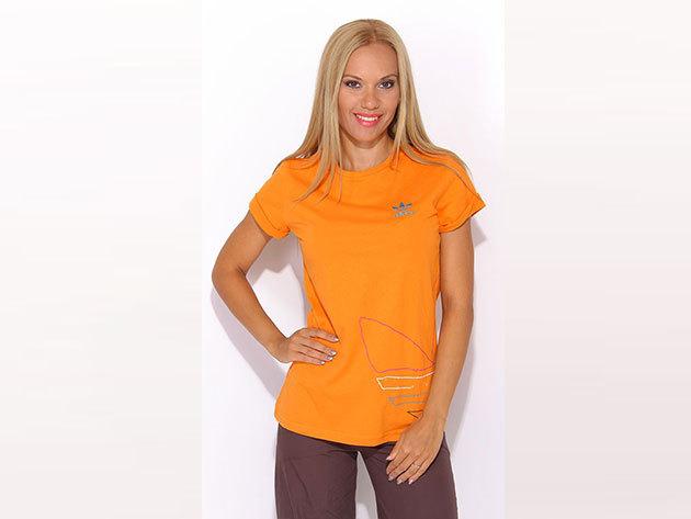 Adidas ST Logo No Tee - női narancssárga póló - P01658-34