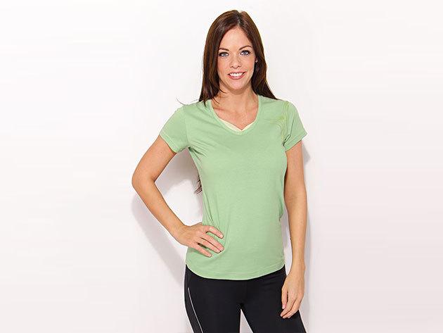 Adidas W Hiking Tee - női zöld póló - P45981-34