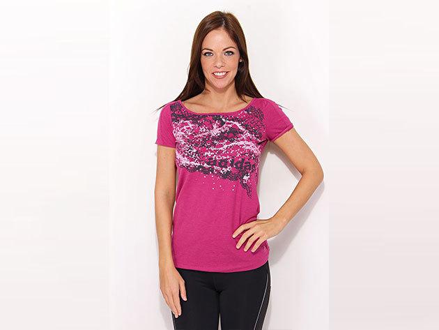 Adidas Al Q1 Graphic T - pink női póló - V37391-38