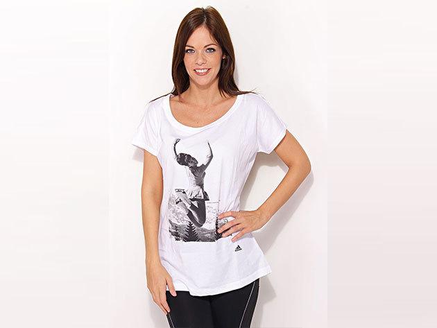 Adidas Xmas Tee I - fehér női póló - X42986-34