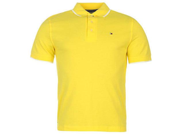 Tommy Hilfiger férfi galléros póló - yellow - S - AZONNAL ÁTVEHETŐ