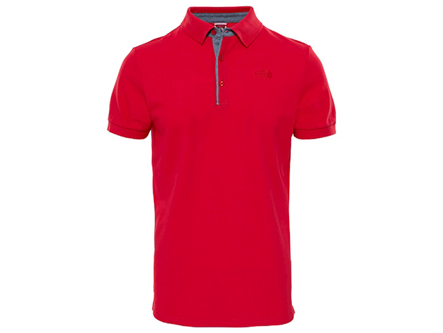 The North Face PREMIUM POLO PIQUE TNF RED CEL CE BLUE MAP PR - T0CEV4682 - L - AZONNAL ÁTVEHETŐ