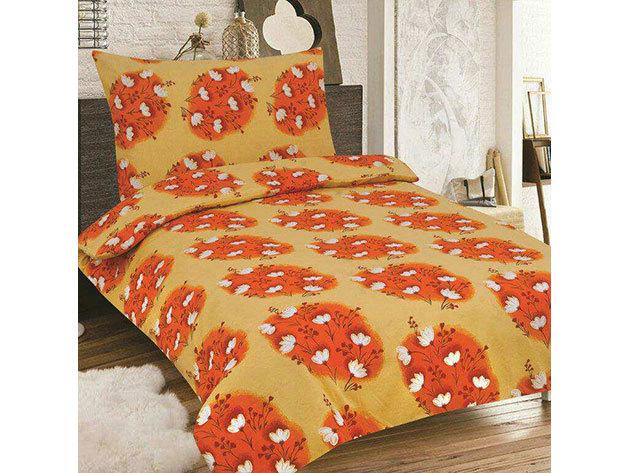 SMARTEX 7 részes Krepp ágynemű (Narancs kis virág)