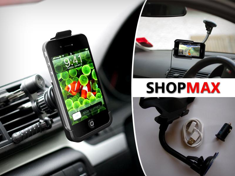 Tökéletes megoldás az iPhone autóban való használatára: tartó és töltő egyben, csak 3.990Ft!