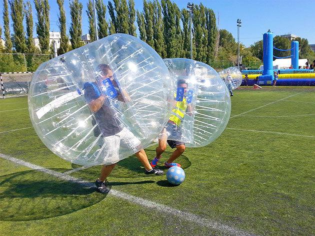 1 óra buborékfoci Budapesten 8 fő részére