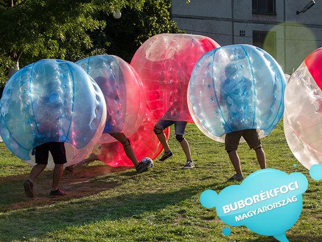Buborékfoci Budapesten! 1 óra felejthetetlen élmény és szórakozás 8 fő részére felszereléssel és szakmai vezetéssel