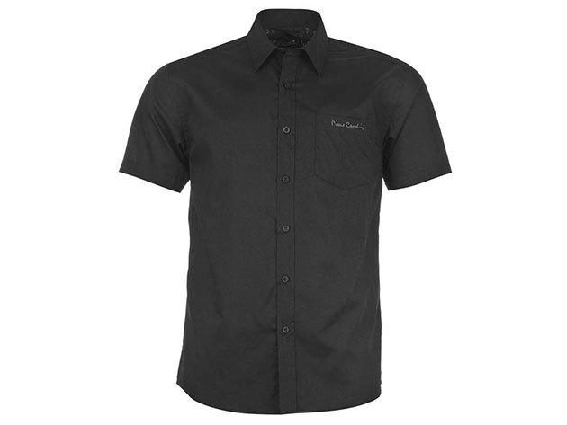 Pierre Cardin férfi rövid ujjú ing - fekete - 55713478 - M