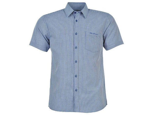 Pierre Cardin férfi rövid ujjú ing - kék kockás - 55713490 - M