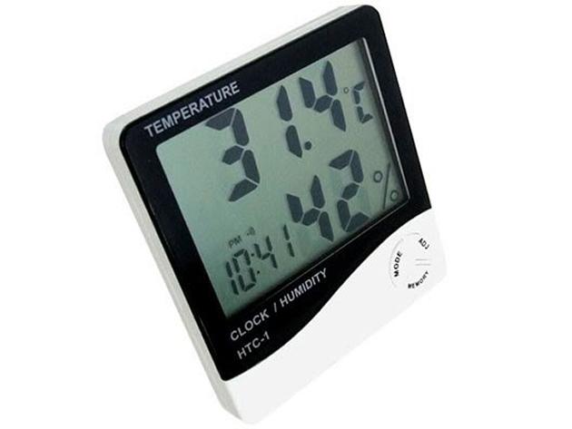 Digitális időjárás állomás hőmérő hőmérséklet páratartalom mérőasztali óra