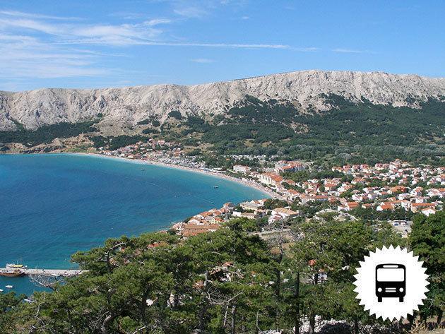 Horvátország - Csobbanás Krk-szigetén, Baska tengerpartján - buszos utazás, időpontok júniustól szeptemberig / fő