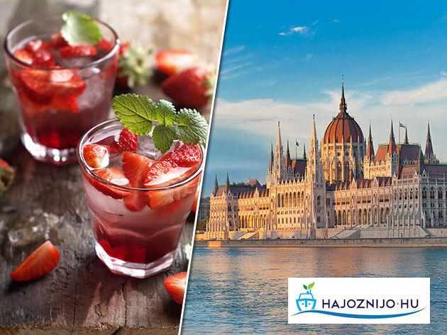 Budapesti sétahajózás egy pohár üdvözlőitallal - 1 órás nyári program a Dunán a főváros legszebb látványosságainak panorámájával /fő
