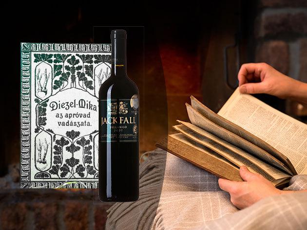 Diezel-Mika: Az apróvad vadászata könyvritkaság reprint változata + Bor: Jackfall 2007 Pillangó - egy 10 éves, ezüstérmet nyert, dűlőszelektált Cabernet Sauvignon a Villányi Borvidékről