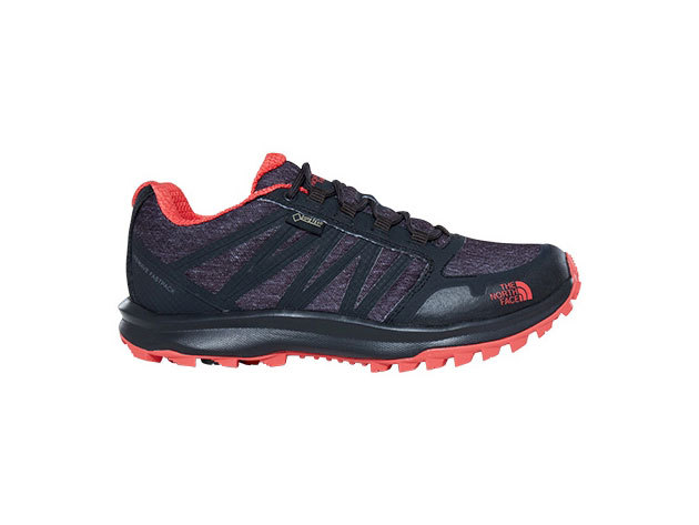 The North Face női cipő LITEWAVE FP GTX Phantom Grey Heather Print/Cayenne Red - T92Y8VTFN / US 5.5 EU 36.5 - AZONNAL ÁTVEHETŐ