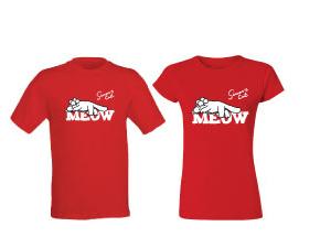 """""""MEOW"""" póló piros"""