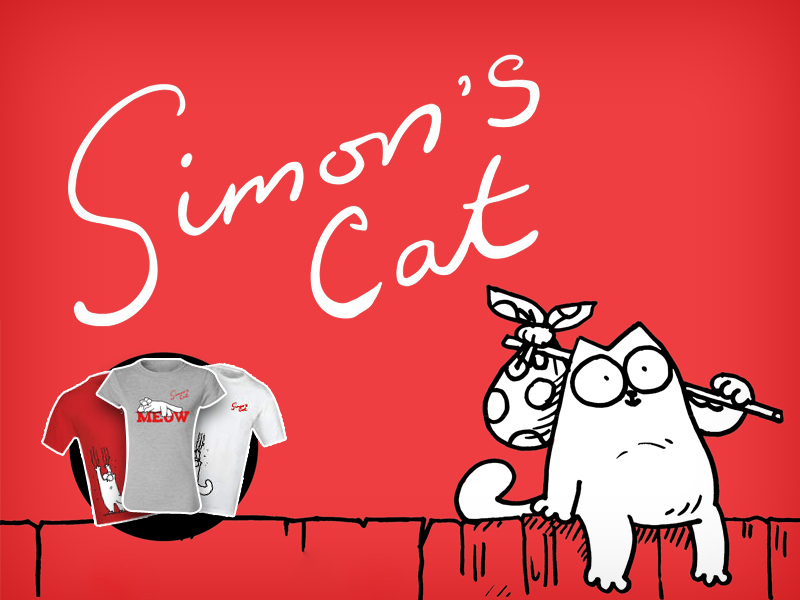 Legyél vagány és vicces a Simon's Cat pólóban, 25% kedvezménnyel!