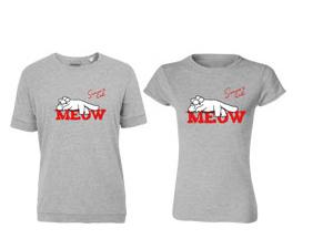 """""""MEOW"""" póló szürke"""