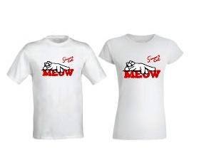 """""""MEOW"""" póló fehér"""