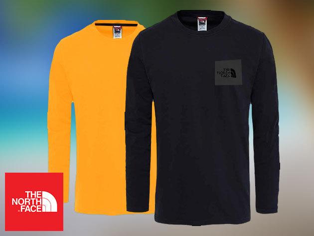 The North Face FINE TEE hosszú ujjú férfi pólók pamutból, kihagyhatatlan áron!