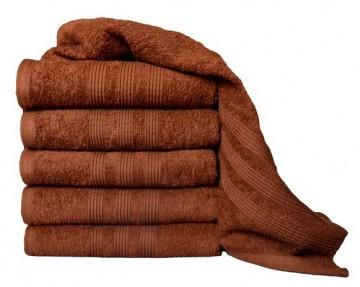 Frottír törülköző 50x100 - barna színű