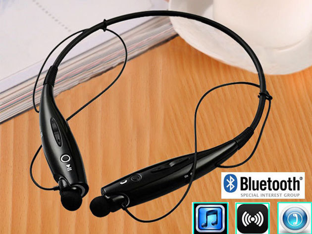 Bluetooth headset sportoláshoz (is) 5-10 méteres hatótávval, beépítet mikrofon, sztereó hangzás, 4 színben