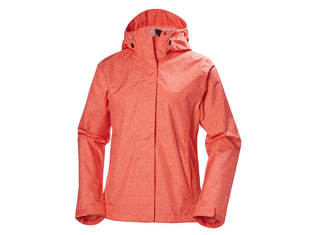 Helly Hansen W NINE K JACKET SHELL PINK HERITAGE GRID L (62300_103-L)