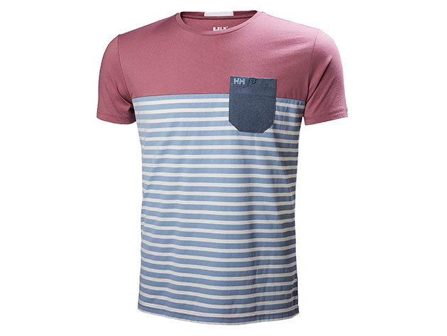 Helly Hansen FJORD T-SHIRT DUSTY BLUE STRIPE S (53025_555-S)