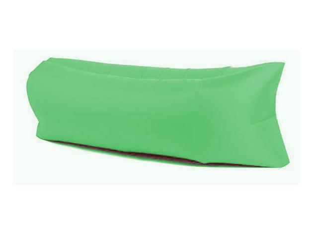 Felfújható ágy strandoláshoz, kempingezéshez - zöld