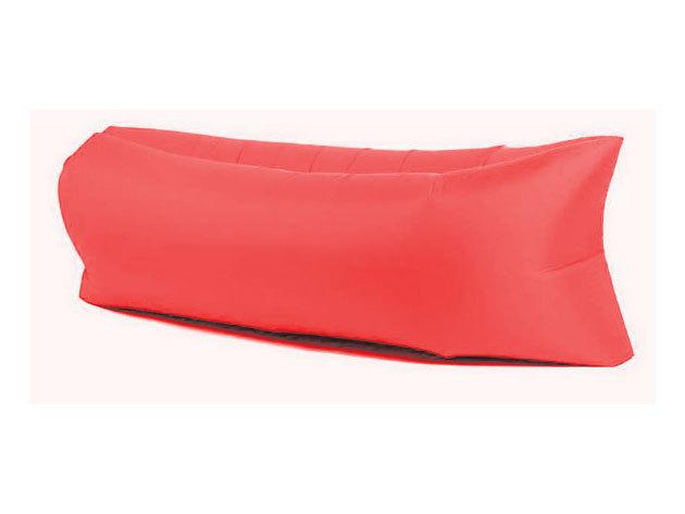 Felfújható ágy strandoláshoz, kempingezéshez - piros
