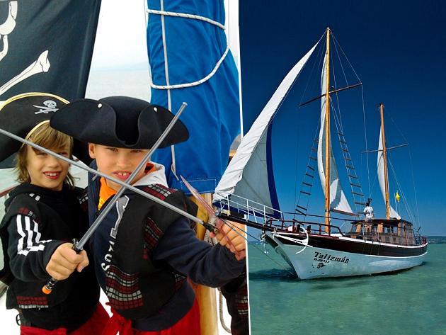 Kincskereső kalóz gyerek show a Balatonon, a Kalóz-Talizmán fedélzetén / 1 órás interaktív gyermekprogram, sok kalanddal