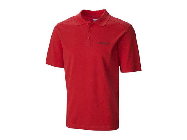 Columbia férfi galléros póló 1382421-o_845 Elm Creek Polo - piros - XL - AZONNAL ÁTVEHETŐ