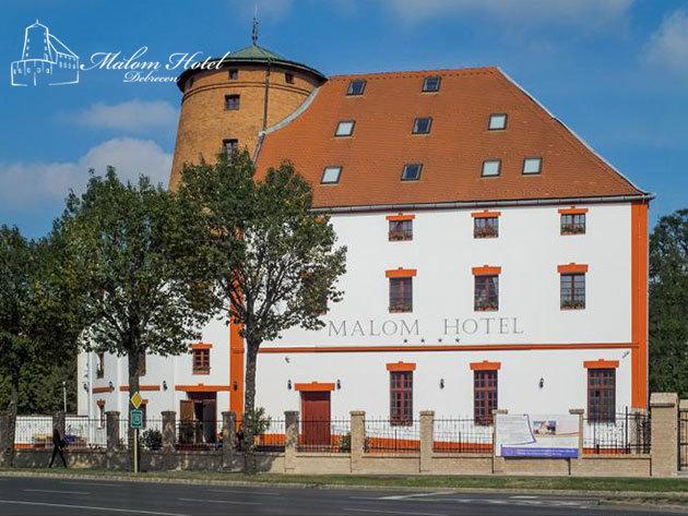 Malom Hotel**** Debrecen - 2 éj félpanzióval vagy 3 éj reggelivel 2 fő részére, 1-1 db Aquaticum Mediterrán Élményfürdő belépővel, szeptember 30-ig