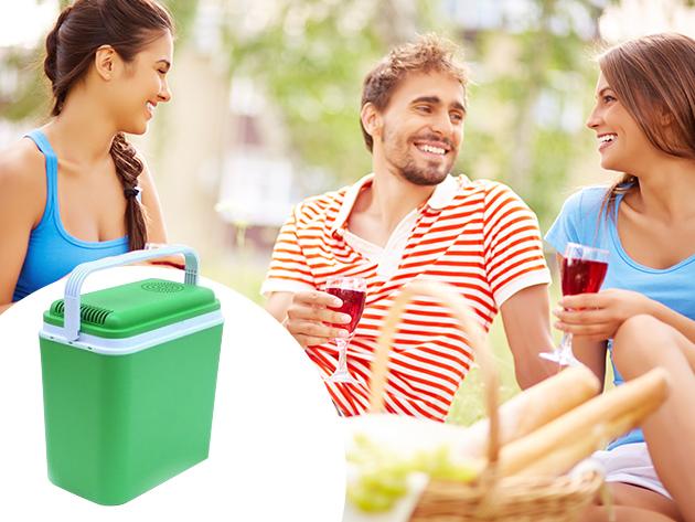 Hűtőtáska - 24 literes, szivargyújtóról üzemeltethető / a meleg nyári napokra, utazáshoz, kempingezéshez, horgászathoz