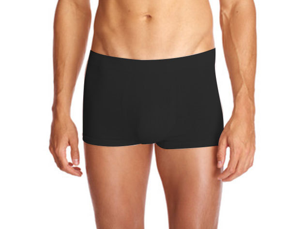 SEAMLESS COTTON BOXER - fekete BU858305-094-L
