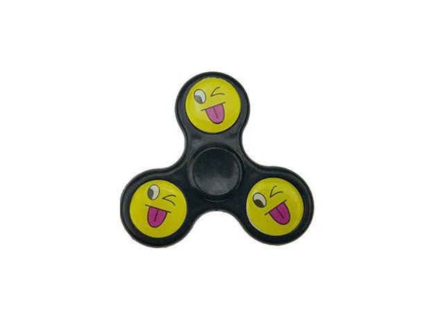 Fidget Spinner ügyességi játék - fekete smile