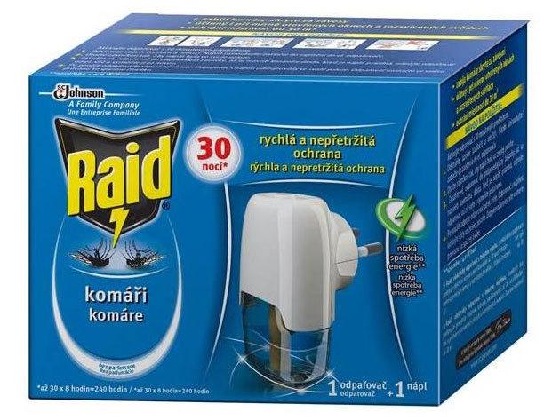 Raid szúnyogirtó készülék és utántöltő 21ml