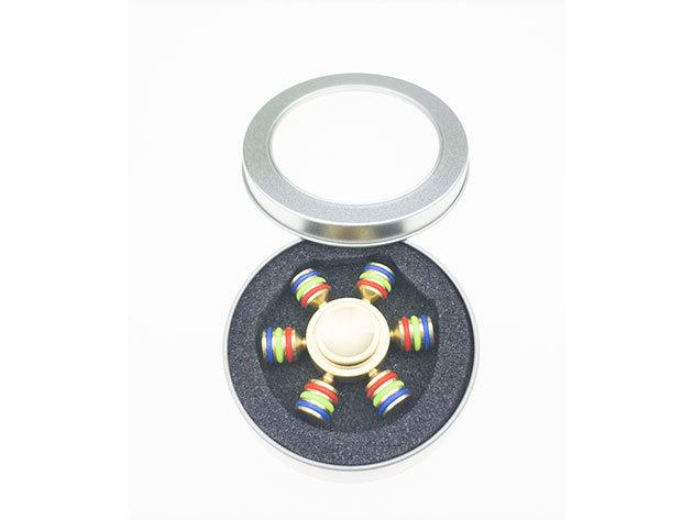 Fidget Spinner - fém, díszdobozban - sárgaréz