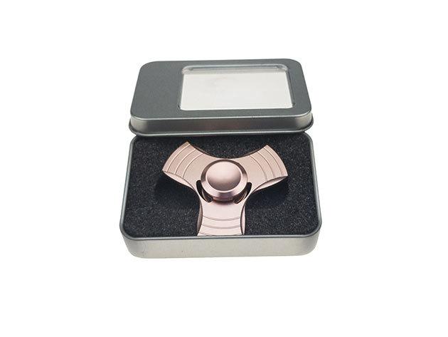 Fidget Spinner - fém, díszdobozban - rózsaszín