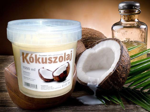 Kókuszolaj - 1 kg / Mindennapos használatra, a sütéstől a testápolásig (többször is felhasználható)