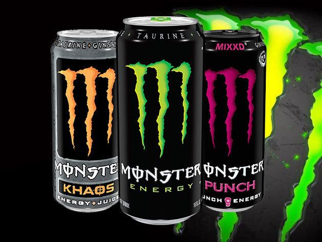 MONSTER energiaital (500 ml) 5 különböző limitált ízben - Khaos, Punch, Sunrise, Citron, Export