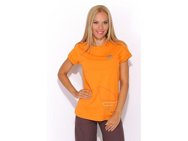 Adidas ST Logo No Tee - női póló - narancssárga - P01658 - 34