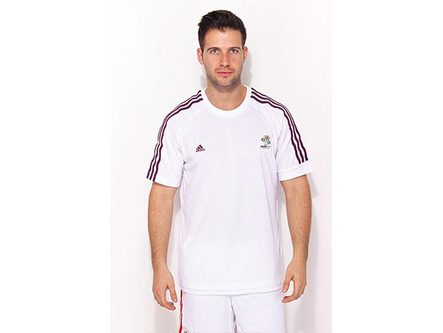 Adidas Official Emblem Tee Men - férfi póló - fehér - X1247 - L