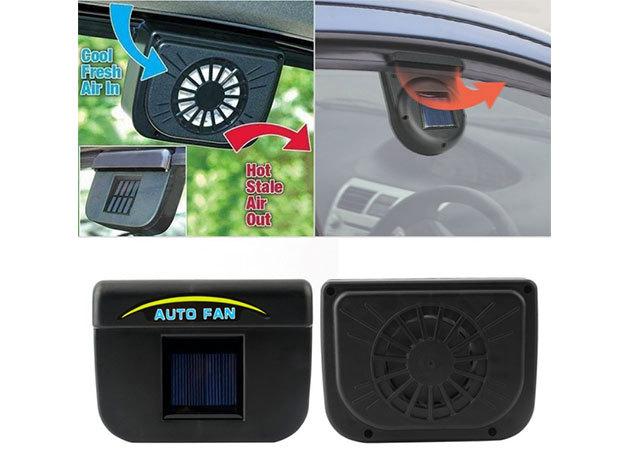 Autó ablakra rögzíthető napelemes ventilátor - működésével nem meríti az autód akkumulátorát