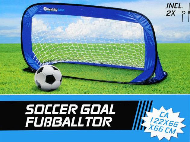 Pop-up mobil focikapu (méret: 122x66x66cm) - könnyedén felállítható és kis helyet foglalva tárolható