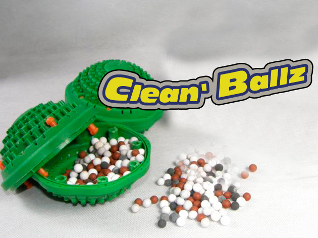 1 db Clean Ballz környezetbarát mosógolyó + 1 db vízlágyító golyó