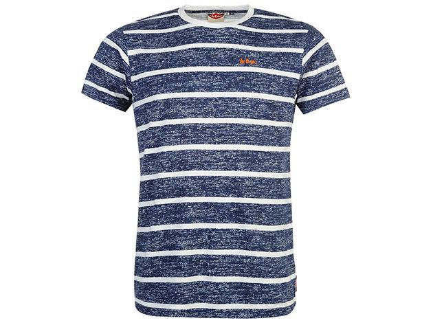 Lee Cooper Tex LL  kék csíkos férfi póló cikkszám: 59957422 - S